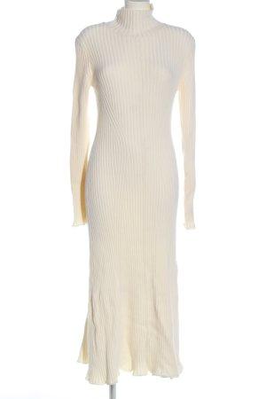 Zara Pulloverkleid wollweiß Casual-Look