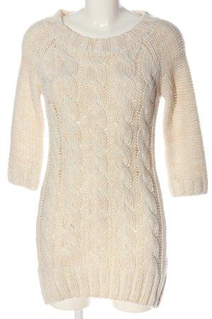 Zara Swetrowa sukienka kremowy Warkoczowy wzór W stylu casual