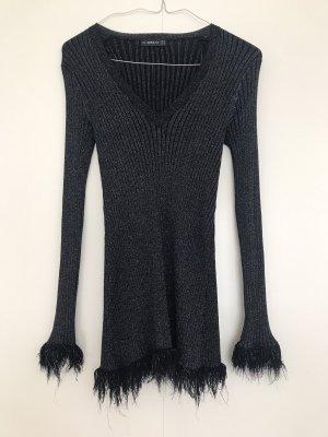 Zara Swetrowa sukienka ciemnoniebieski