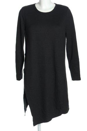 Zara Vestido tipo jersey negro look casual
