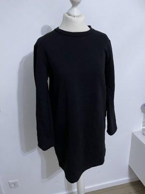 Zara Vestido tipo jersey negro