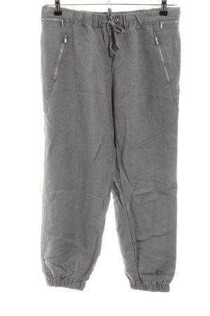 Zara Pantalon large gris clair style décontracté