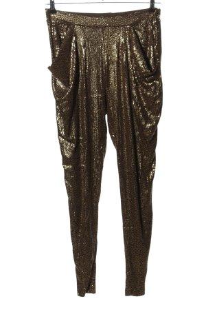 Zara Pumphose goldfarben-braun Elegant