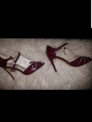 Zara Basic Peep Toe Pumps bordeaux