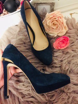 Zara Pumps High Heels Dunkelblau