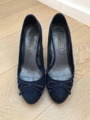 Zara Pumps Marineblau - aus Textilleder