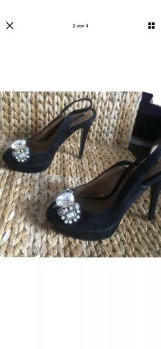 Zara Plateauzool sandalen zwart