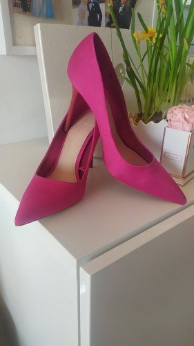 Zara Pumps Satin pink rot Gr. 39
