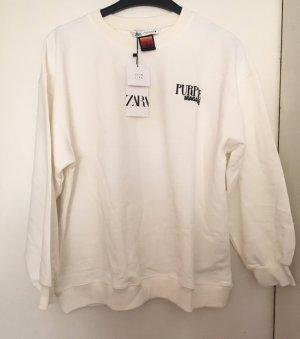 Zara Sweter oversize Wielokolorowy Tkanina z mieszanych włókien