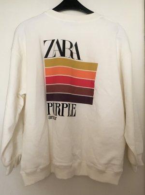 Zara Purple Magazine sweater GR M