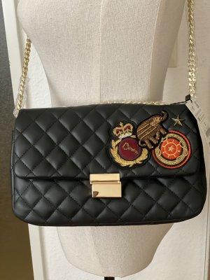ZARA Quilted Patches Crossbody bag Black