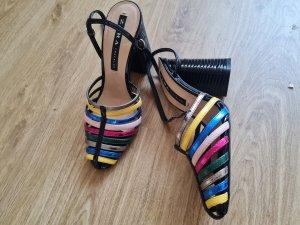 Zara Bottes à talon multicolore