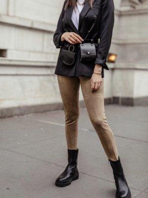 Zara Rauleder Leggings Braun S