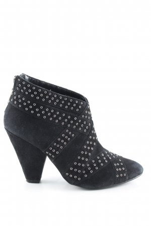 Zara Reißverschluss-Stiefeletten schwarz Casual-Look