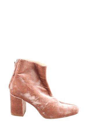 Zara Reißverschluss-Stiefeletten rot abstraktes Muster Casual-Look