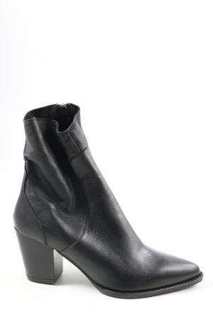 Zara Reißverschluss-Stiefeletten schwarz Business-Look