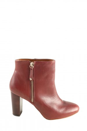 Zara Reißverschluss-Stiefeletten rot Casual-Look