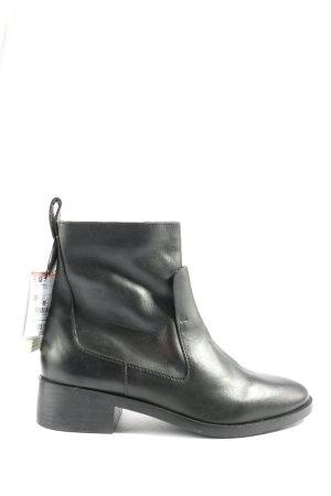 Zara Zipper Booties black casual look