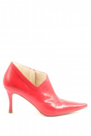 Zara Reißverschluss-Stiefeletten rot Elegant