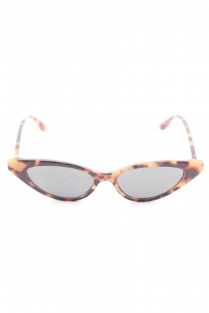Zara Retro Brille Animalmuster Casual-Look