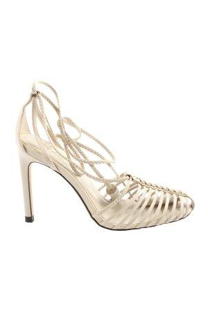 Zara Riemchen-Sandalen wollweiß Casual-Look
