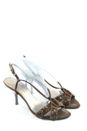 Zara Riemchen-Sandalen braun Elegant