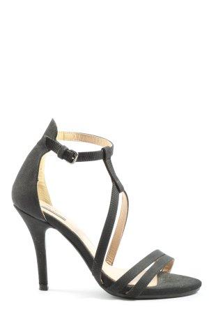 Zara Sandały z rzemykami czarny W stylu casual