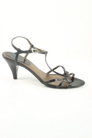 Zara Riemchen-Sandalen schwarz Elegant