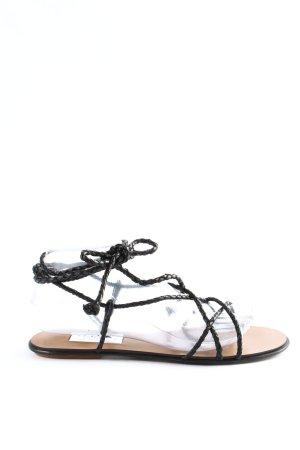 Zara Riemchen-Sandalen schwarz Casual-Look