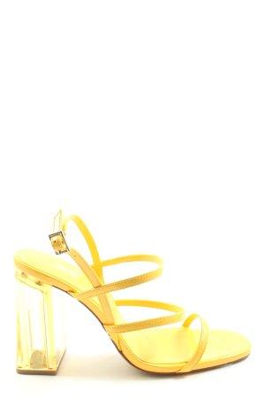 Zara Riemchen-Sandalen blassgelb Elegant