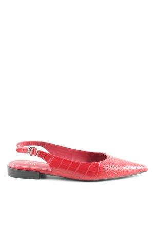 Zara Sandalias de tiras rojo estampado de animales look casual