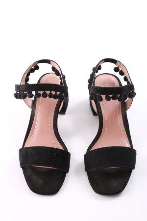Zara Riemchen-Sandaletten schwarz Casual-Look