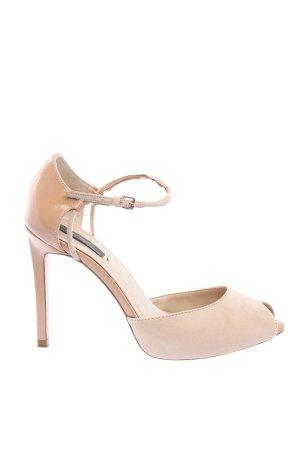 Zara Riemchen-Sandaletten creme Casual-Look