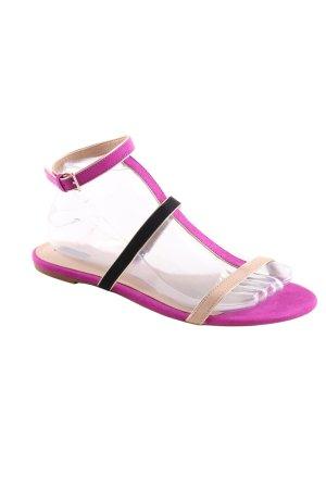 Zara Riemchen-Sandaletten mehrfarbig Casual-Look