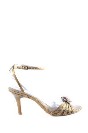 Zara Riemchen-Sandaletten goldfarben Casual-Look