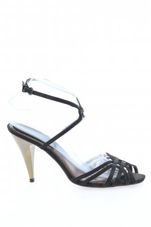 Zara Strapped High-Heeled Sandals black casual look