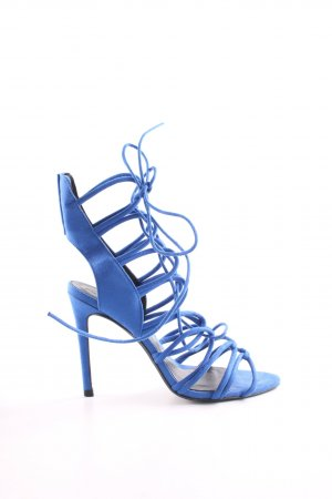 Zara Riemchenpumps blau Casual-Look