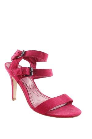 Zara Riemchenpumps pink-magenta Casual-Look