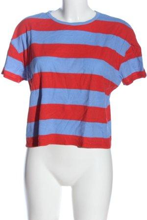 Zara Koszulka w paski niebieski-czerwony Wzór w paski W stylu casual