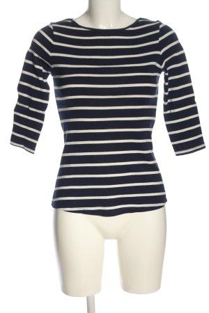 Zara Ringelshirt blau-weiß Streifenmuster Casual-Look