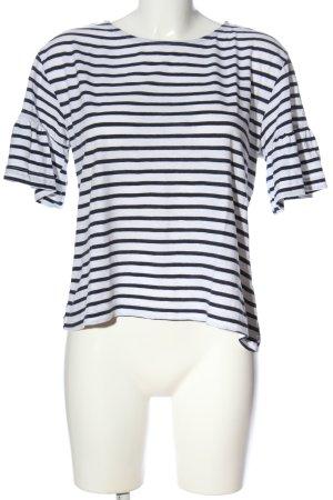 Zara Maglietta a righe bianco-nero motivo a righe stile casual