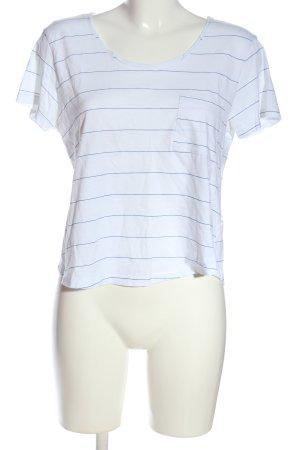 Zara Stripe Shirt white-blue allover print casual look