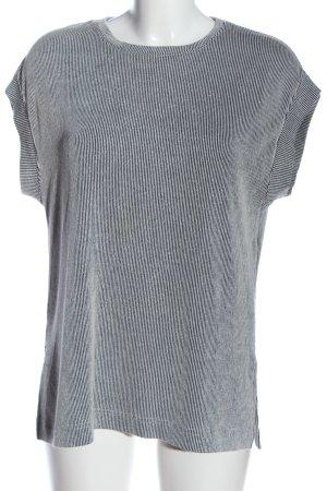 Zara Ringelshirt schwarz-weiß Allover-Druck Casual-Look