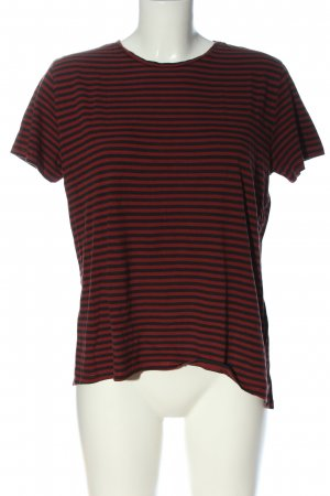 Zara Ringelshirt rot-schwarz Streifenmuster Casual-Look