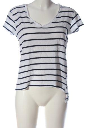Zara Gestreept shirt wit-zwart gestreept patroon casual uitstraling