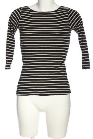 Zara Stripe Shirt natural white-black allover print casual look
