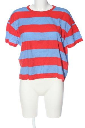 Zara Gestreept shirt rood-blauw volledige print casual uitstraling