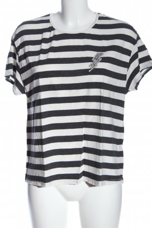 Zara Ringelshirt schwarz-weiß Streifenmuster Casual-Look