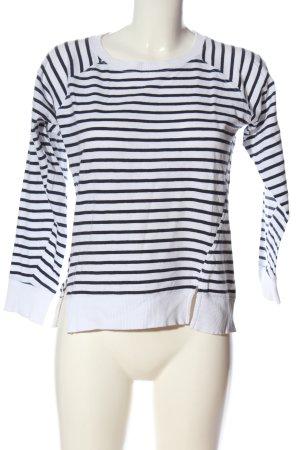 Zara Ringelshirt weiß-schwarz Streifenmuster Casual-Look