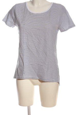 Zara Koszulka w paski biały-czarny Wzór w paski W stylu casual